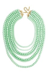 Women's Baublebar 'Bold' Multistrand Beaded Statement Necklace Mint