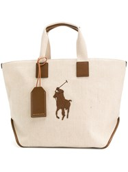 Polo Ralph Lauren Big Pony Tote Bag Nude And Neutrals