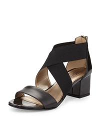 Circa Joan And David Valley Crisscross Strap Sandal Black