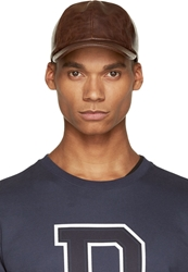 A.P.C. Brown Leather Look Baseball Cap