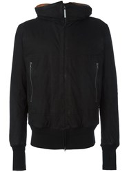 Isaac Sellam Experience Hooded Leather Jacket Black