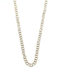 Temple St. Clair 18K Yellow Gold Round Link Necklace Chain 32