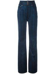 Marc Jacobs Wide Leg Star Trousers Blue