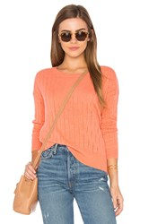 Leo And Sage Open Stitched Sweater Coral