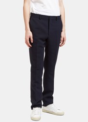 Fendi Technical Textured Slim Leg Pants Navy