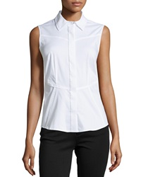 Laundry By Shelli Segal Sleeveless Poplin Blouse Optic White