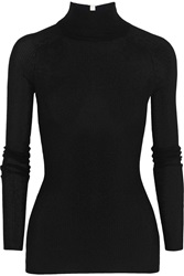 Alexander Wang Ribbed Knit Turtleneck Sweater Black