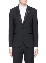 Paul Smith 'Soho' Floral Embroidered Wool Blazer Black