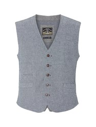 White Stuff Tailored Check Waistcoat Grey