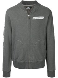 Hysteric Glamour Full Zip Sweatshirt With Print Cotton Polyester Grey