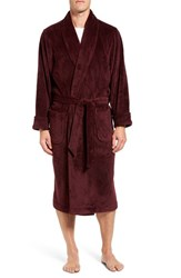Nordstrom Men's Terry Robe Burgundy Black