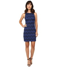 Jessica Simpson Dress Js6d8956 Sapphire Black Women's Dress Blue