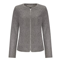 John Lewis Capsule Collection Boiled Wool Zip Up Jacket Grey