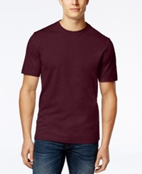 Club Room Men's Big And Tall Solid Crew Neck T Shirt Only At Macy's Malbec