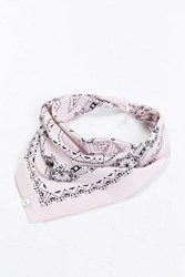 Urban Outfitters Uo Geo Bandana Pink
