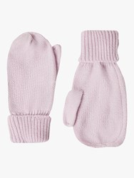 French Connection Knitted Mittens Lavender Frost