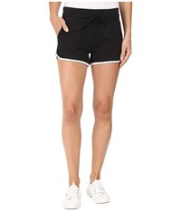 Alternative Apparel Vintage Sport French Terry Track Shorts Black White Women's Shorts