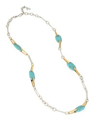 Robert Lee Morris Cool As Ice Turquoise Station Necklace