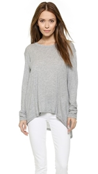 Wilt Twist Slit Tee Grey Heather