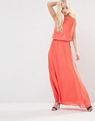Y.A.S Hibiscus Maxi Dress Hibiscus Pink