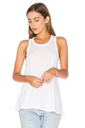 James Perse Jersey A Line Tank White