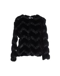 Ainea Coats And Jackets Faux Furs Women Black