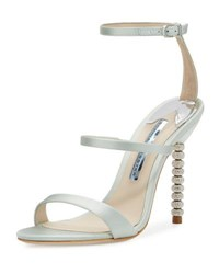Sophia Webster Rosalind Strappy Bridal Sandal Ice Blue