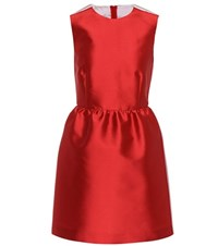 Red Valentino Sleeveless Satin Dress Red