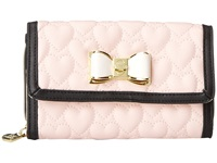Betsey Johnson Be My Bow Wallet On A String Blush Wallet Handbags Pink