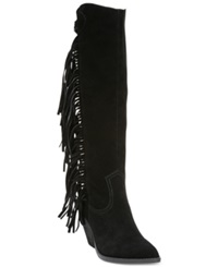 Carlos By Carlos Santana Lever Fringe Tall Boots Women's Shoes Black