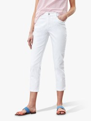 Joules Monroe Cropped Skinny Jeans Bright White
