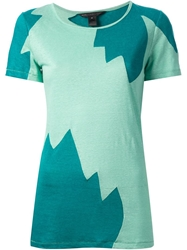 Marc By Marc Jacobs Colour Block T Shirt Green