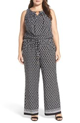Tahari Plus Size Women's Print Wide Leg Jumpsuit