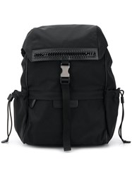 Stella Mccartney Logo Backpack Black