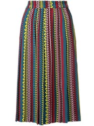Holly Fulton Ethnic Print Pleated Skirt