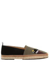 Fendi Monster Butterfly Leather Espadrilles