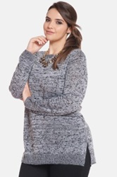 Eloquii 'Crossing Paths' Sweater Plus Size Gray