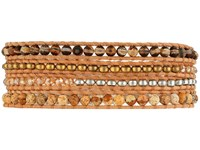 Chan Luu Semi Precious Stone Mix Wrap Bracelet Brown Agate Mix Bracelet