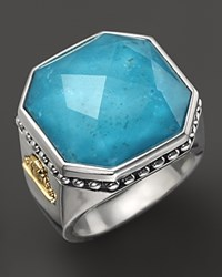 Lagos Sterling Silver Turquoise Color Rocks Ring