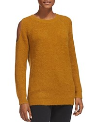 Whistles Cold Shoulder Cutout Sweater Yellow