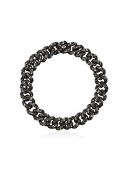 Shay 18Kt Gold And Black Diamond Chain Link Bracelet Metallic