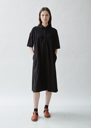 Casey Casey Jersey And Shirting Dress Black
