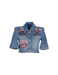 Philipp Plein Couture Denim Outerwear Blue