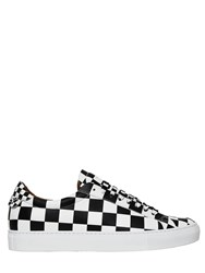 Givenchy Checkered Print Leather Sneakers