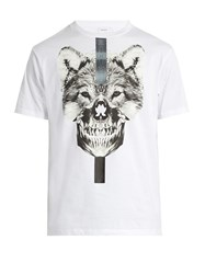Marcelo Burlon Moises Cotton Jersey T Shirt White Multi
