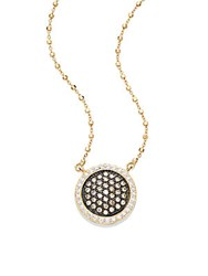 Alor Diamond 18K Yellow Gold And Stainless Steel Pendant Necklace