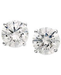 Arabella 14K White Gold Earrings Swarovski Zirconia Round Stud Earrings 1 3 4 Ct. T.W.