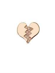 Alison Lou Diamond And Yellow Gold Broken Heart Earring