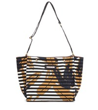 Marni Printed Canvas Shopper Multicoloured