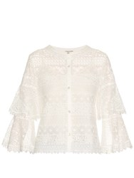 Temperley London Desdemona Lace Top White